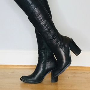 Vintage Zodiac Image Western tall heeled boots